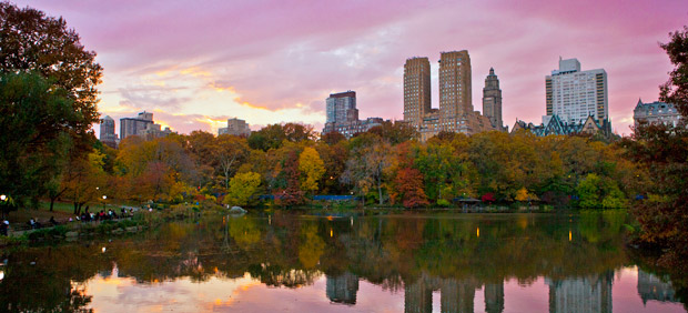 24 Hours in New York City. Sunset of Central Park. Photo by Anthony Quintano