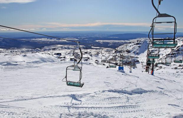 Ski Chair Lift Snow Mount Ruapehu New Zealand