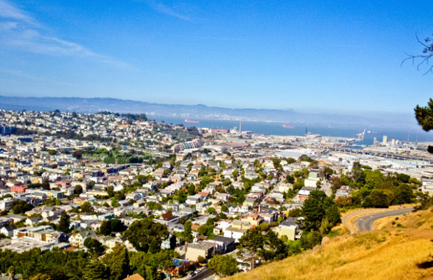 San Francisco, viewed from Bernal Heights